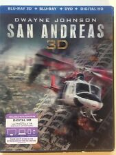 San Andreas (Blu-ray Disc, 2015, 3D) (NEW)
