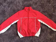Sportjacke,  Trainingsjacke, Sport Gr. 140 Rot/weiß