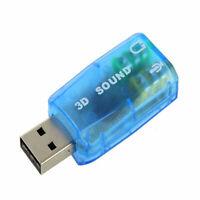 10X(USB Zu 3,5 Mm Mikrofon Kopfhöreranschluss Stereo Headset 3D Soundkarte Q9O3)