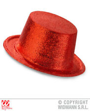 Red Glitter Top Hat Circus Carnival Hen Do Fancy Dress Accessory