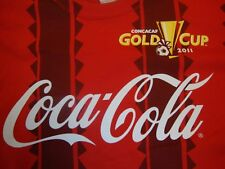 Coca-Cola Concacaf Gold Cup 2011 Soccer Red T Shirt Size Xl