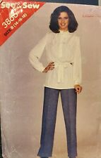 Vtg Butterick See & Sew pattern 3866 Misses' Tunic, Belt & Pants size 14, 16