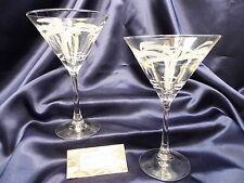 Rolf Glass Co. Palm Tree Martini Glass Set of Two