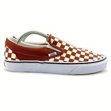 VANS Men's Checkerboard Picante True White Classic Slip On Skate Shoes Size 11