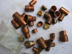 lötfittinge 15 - 12 - 12  mm kupfer  Reste  siehe Bilder