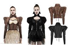 Punk Rave Jacke Steampunk Top Gothic Puffs Victorian LARP Vintage Bolero Y660