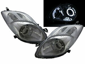 Charade XP90 11-13 Hatchback CCFL Projector Headlight Chrome for DAIHATSU LHD