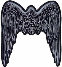ANGEL WINGS GREY LARGE BACK PATCH Lady Biker Chick MC Club NEW Vest LRG-0229