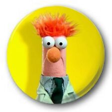 "Beaker 25mm 1"" Button Badge - Kids Retro TV Nostalgia 70's 80's Muppets"