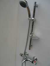 THERMOSTATIC WALL BATH SHOWER VALVE MIXER TAPS, HAND SHOWER, RAIL, HOSE 092/013A