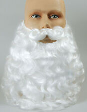 Father Christmas White Beard & Moustache Xmas Fancy Dress 12 Inch
