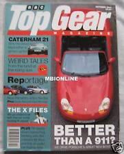 Top Gear 10/1996 featuring Porsche Boxster, Peugeot, Vauxhall, Nissan, Caterham