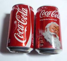COCA COLA can SINGAPORE 330ml Coke 2013 CHRISTMAS XMAS Open Happiness Santa