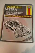 V.CHEAP - HAYNES,VAUXHALL ASTRA, 1980 to OCT 1984, No.635,OWNERS WORKSHOP MANUAL
