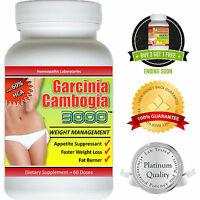 Garcinia Cambogia Extract Pure 3000 Weight Loss 100% Diet Fat Burner HCA