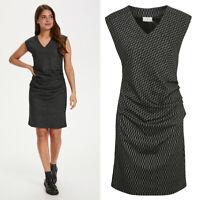 KAFFE - 10505210 Kleid / BLACK - CHALK  / UVP € 89  38 - M