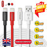 Heavy Duty Charging Cable & Charger for iPhone 11 12 PRO Max 8 7 X 6 Plus 5 iPad