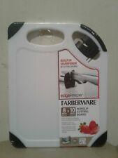 "Farberware Non-Slip Poly Cutting Board with EdgeKeeper Pop-Up Sharpener,10"""