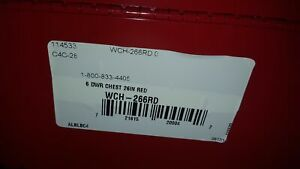 Waterloo WCH-266RD 26x12x15-19/64 6 Drawer Top Chest - Factory Sealed Box!