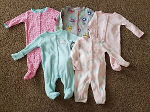 Baby Girl Sleepers, Newborn Sleepers One Piece Outfits,  Newborn Girl Clothes