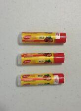New X3 Carmex Daily Care Click Stick Strawberry Spf 15
