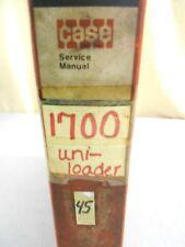 CASE 1700 UNI-LOADER SKID STEER LOADER SERVICE MANUAL 9-74215