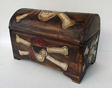 Unusual Rustic Pirate Trunk Hand Made Ethnic Storage Pirate Treasure Chest Med