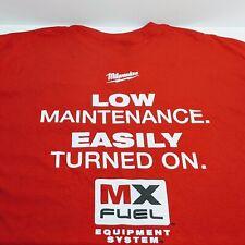Milwaukee Power Tools Mx Fuel T-Shirt New Authentic Sizes: M, L, Xl, 2Xl, & 3Xl