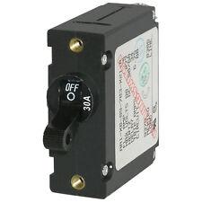 Blue Sea 7220 AC / DC Single Pole Magnetic World Circuit Breaker  -  30 Amp