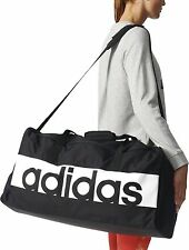 Adidas Linear Black Unisex Training Gym Sports Football Duffle Holiday Bag