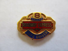 vintage Roadway Express 8yr Trucker Trucking Safety Award Safe Driving Pin