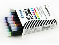 Pilot Parallel Fountain Calligraphy Pen - Ink Cartridges - Assorted Ink, 12 Pack