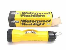 NOS! EVEREADY WATERPROOF FLASHLIGHT, 2D-CELL, #304