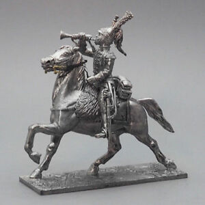 Tin soldier, Trumpeter of the cuirassier regiment France, Napoleonic Wars, 54 mm