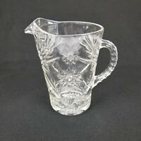 Anchor Hocking EAPC EARLY AMERICAN PRESCUT Star of David Large 60oz Pitcher