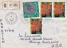 BD803) Ivory Coast 1980 nice registered cover to USA