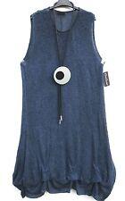NEUF Sarah Santos Longue Robe Tricot Robe Robe Dress L 44 46 Look Laine
