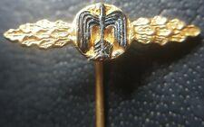 ✚8302✚ German post WW2 1957 pattern miniature pin Luftwaffe Fighter Clasp Gold