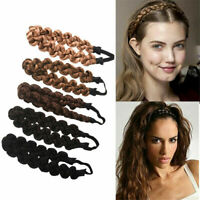 Hair Styling Synthetic Hair Band Plait Twisted Braided Wig Headband Women Beauty