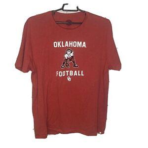 Life Is Good Oklahoma Sooners Football Tee Men's XXL Cool Tee Soft Crimson
