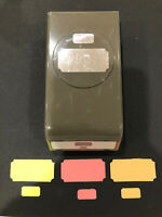 Stampin Up TICKET DUO Punch Cardmaking Stamping Paper Crafts Label Tags Tabs SU