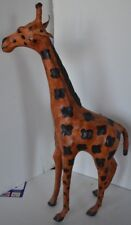"Vintage Giraffe Small Leather India Figure 16"""