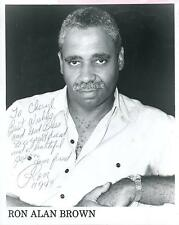 Ron Alan Brown Jazz Musician Signed Photo Autograph