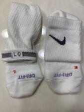 Nike Dri-Fit Performance Cotton Crew Socks (White, Gray Check)