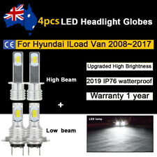 4x Headlight Globe For Hyundai ILoad Van TQ 2008~2017 High Low beam LED Bulb Kit