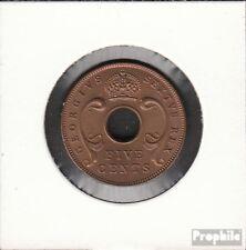 Brit. Ostafrika und Uganda 33 1949 unzirkuliert Bronze 1949 5 Cents George VI.