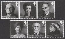 GB British Humanitarians set (6 stamps) MNH 2016