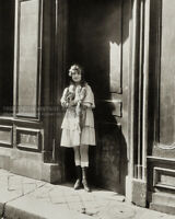 1921 Photo - Prostitute in Brothel Doorway Wearing Lace-Up Boots & Short Dress
