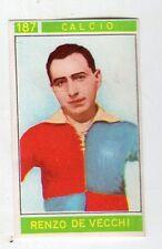 figurina - CAMPIONI DELLO SPORT PANINI 1967/68 - NUMERO 187 CALCIO DE VECCHI