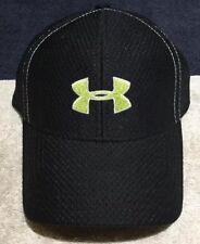 Under Armour Black W/green Logo Baseball Cap Hat Youth